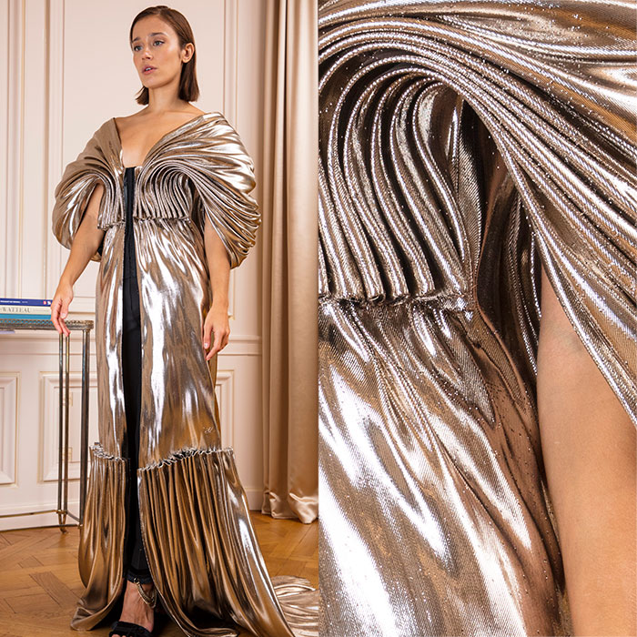 Molten Gold Evening Gown