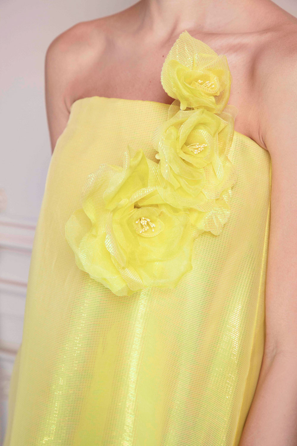 Lemon yellow bustier