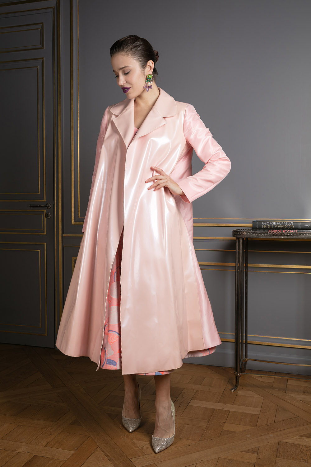 Baby pink loose coat